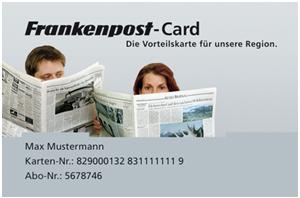 Frankenpost-Card - Die Vorteilskarte für unsere Region